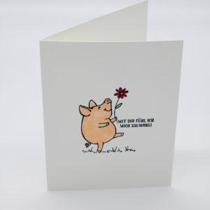 Karte Glücksschweinchen