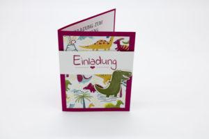 Dino-Einladungskarte