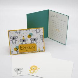 Einladungskarte Löwe