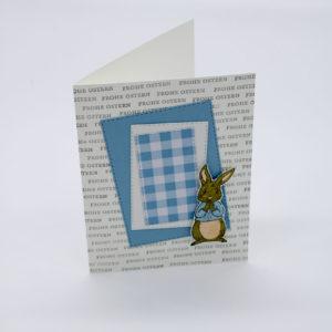 Frohe Ostern in Babyblau