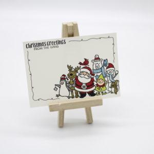 Postkarte Christmas Greetings
