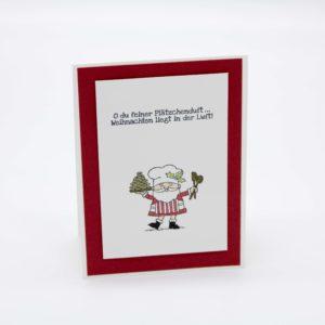 Weihnachtsmann mit Plätzchen