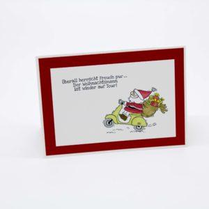 Weihnachtsmann mit Roller