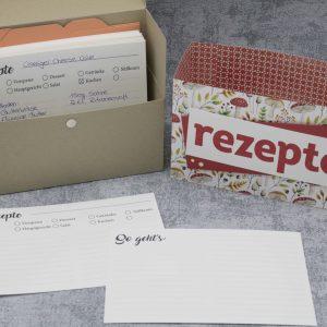 Rezeptkarten für die Rezepte-Box